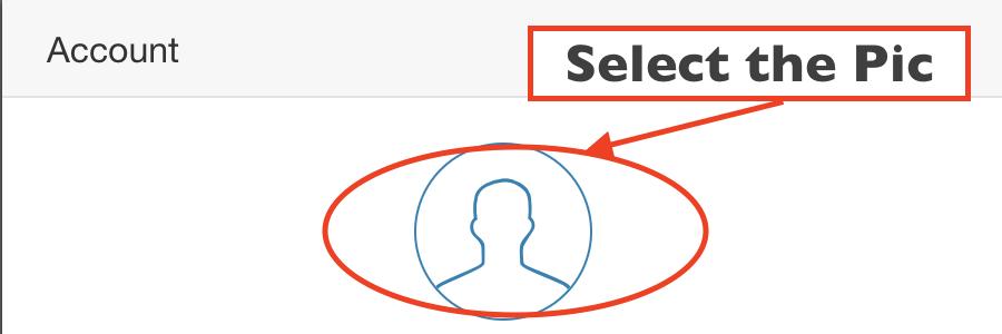 Image of Select Profile pic area